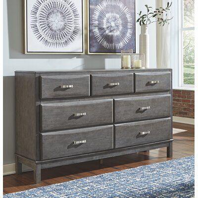 Gracie Oaks Caitbrook Grey Dresser In 2020 Furniture Loft Bed Frame Sports Bedding