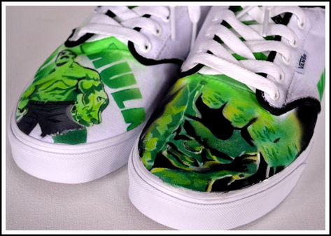 Mens Shoes, Mens Painted VansConverseGeneric Shoes, Vans