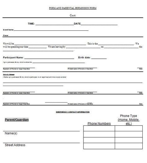 Permission+Slip+22 DB Lessons Pinterest Field trips - permission slip template