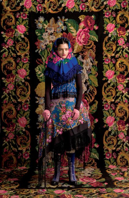 A Comtesse of Newforest in Fantastic Hungarian folk art pattern