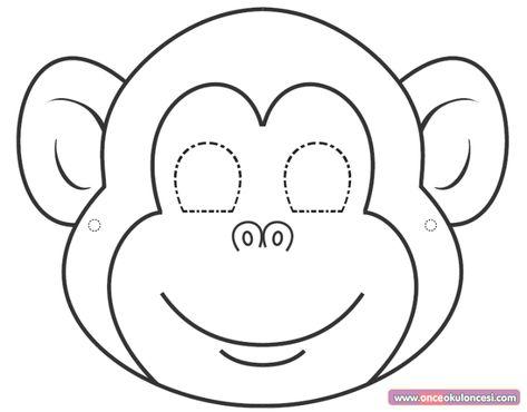 Okul Oncesi Maske Google Da Ara Maymunlar Boyama Sayfalari