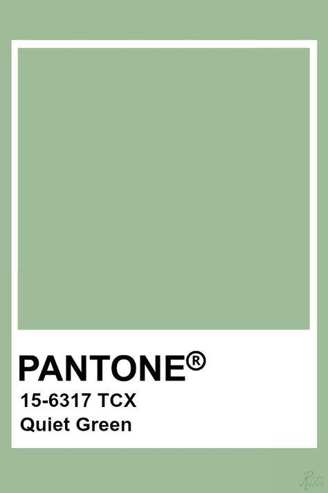 Pantone Quiet Green