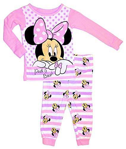 BABY MICKEY MOUSE MINNIE KIDS PAJAMAS SET SLEEPWEAR 2 PIECE PAJAMA LONG SLEEVE