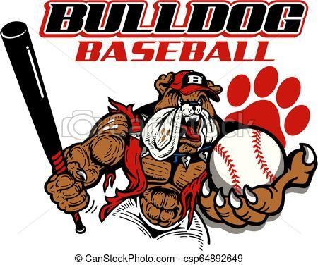 Bulldog Baseball Vector Stock Illustration Royalty Free Illustrations Stock Clip Art Icon Stock Clipart Icons Logo Line Baseball Vector Art Icon Bulldog