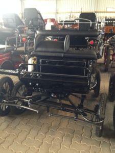 Tolle schwarze Kutsche Kombiwagen