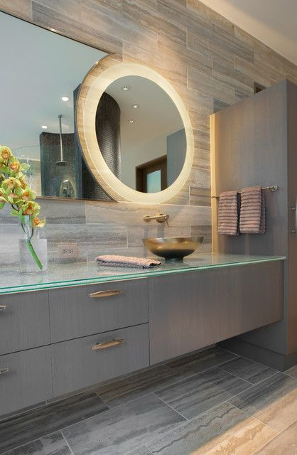 Round Mirrors Ikea Fabulous Transitional Bathroom My Houzz
