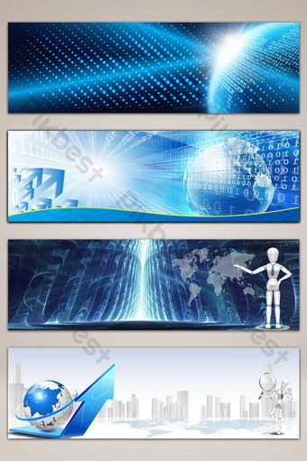 Technology Company Website Poster Banner Background Backgrounds Psd Free Download Pikbest Background Tech Background Banner