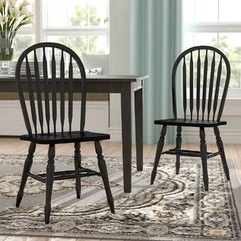 Andover Mills Biermann Solid Wood Windsor Back Side Chair Reviews Wayfair In 2020 Dining Chairs Farmhouse Dining Chairs Solid Wood Dining Chairs
