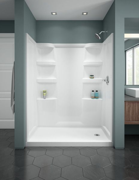 Procrylic 60 X 32 Shower Base Right Drain B78615 6032r Wh