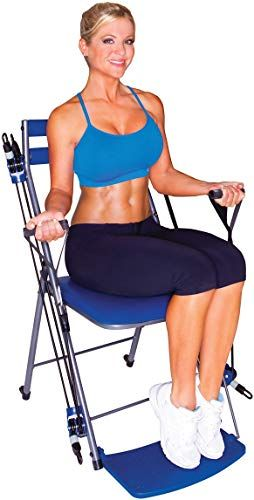 Great For Chair Gym The Total Body Workout I All In One Compact Portable And Easy To Use At Home Exercise System Includes 5 Instructional Dvds Workout Gu