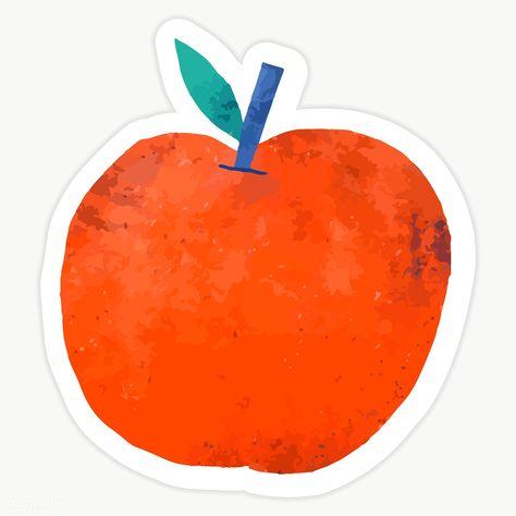Illustration Of Fresh Red Apple On Transparent Background Premium Image By Rawpixel Com Sasi Red Apple Apple Illustration Fruit Doodle