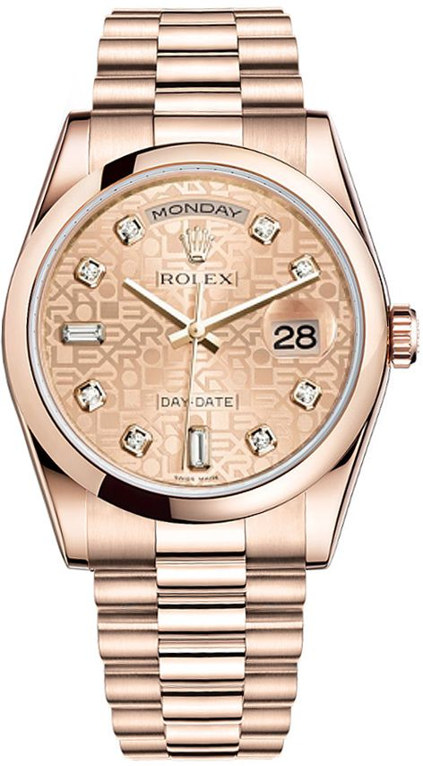 Rolex Watches Collection For Women : Illustration Description Rolex Day-Date President Everose Gold Watch 118205 Pink Jubilee Diamond Dial 2016 ** Details can be found by clicking on the image. (This is an affiliate link)