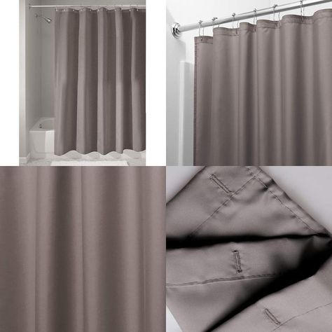 Crafted Of Soft Polyester Fabric InterDesigns Mold Mildew Free Shower Curtain Is A Classic Fit For Your Or Bath Tub Needs