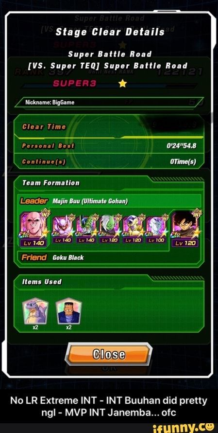 No Lr Extreme Int Int Buuhan Did Pretty Ngl Mvp Int Janemba Ofc Ifunny Memes Ifunny Still Love You