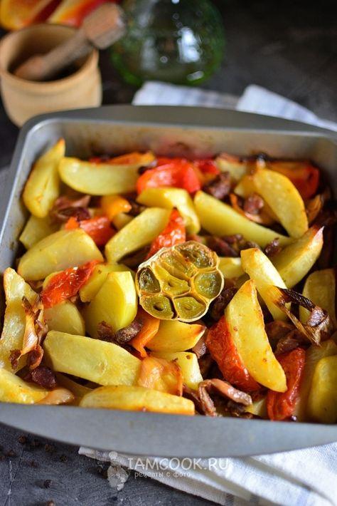 пупки в духовке с картошкой в