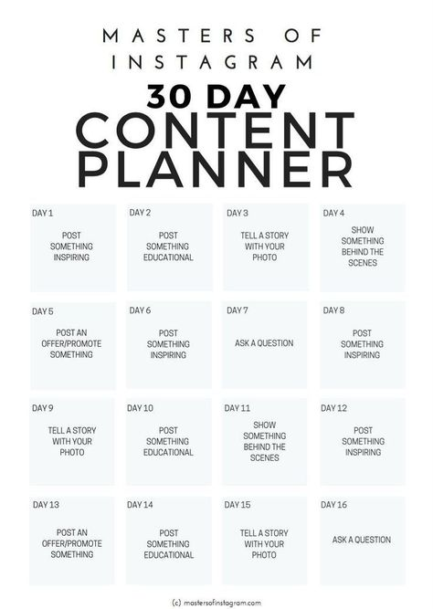 Plan 30 days of Instagram content in minutes | 30 Day Instagram Plan #instagram #contentstrategy