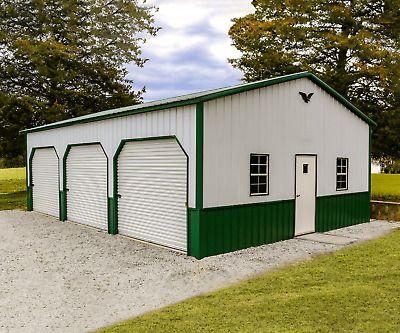 24x35x10 Metal Garage Storage Building Free Del Installation Prices Vary Metal Garage Buildings Metal Garages Garage Design