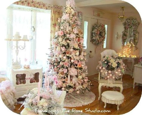 Shabby Chic Natale : Shabby chic christmas decorating ideas christmass editions