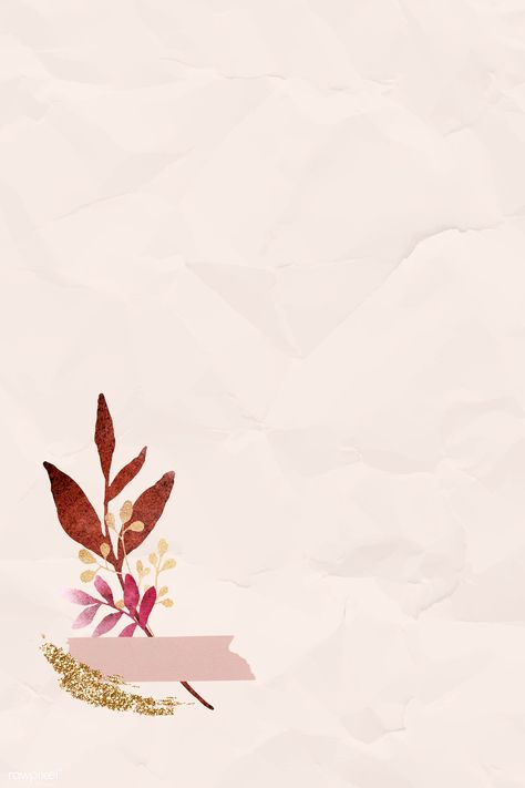 Christmas watercolor leafy on beige wrinkled paper background vector | premium image by rawpixel.com / Adj