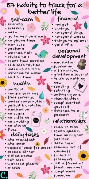 57 habits to track for a better lifestyle   track these healthy habits in your bullet journal #habittracker #habitinfographic #selfcareinfographic #habitinfographic #infographic #personaldevelopment