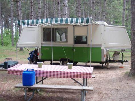 1975 Apache Royal Vintage Pop Up Camper Travel Trailer Apache