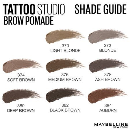 Maybelline Tattoostudio Brow Pomade Long Lasting Buildable Eyebrow Makeup Ash Brown 0 106 Oz Walmart Com Eyebrow Makeup Brow Pomade Brows