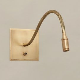 Medway Reading Light Brass Metal Arm Contemporary Metal Sconce By Vaughan Wall Mounted Reading Lights Reading Light Wall Lights