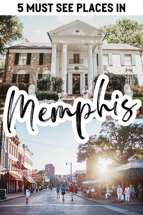Memphis, Tennessee - Fem platser att besöka under din resa Graceland Elvis, Elvis Presley, Cool Places To Visit, Places To Travel, Amazing Destinations, Travel Destinations, Memphis Tennessee, Visit Tennessee, Memphis Art