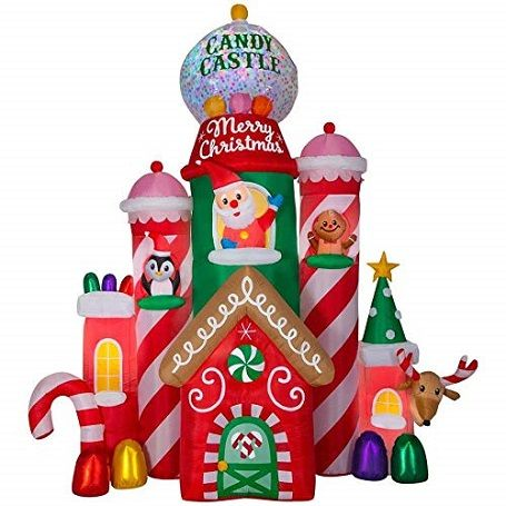Gemmy Christmas Candy Castle Inflatable