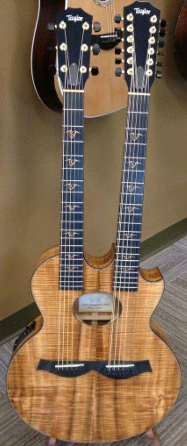 Taylor Richie Sambora Double Neck Guitar Acoustic Guitar Taylor Guitar