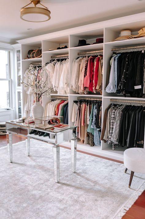 Home Tour California Closets Reveal Glam Room, Dream Closet Design, Dream Closets, Home Buying, Closet Decor, Closet Vanity, Home, Closet Remodel, Vanity Room