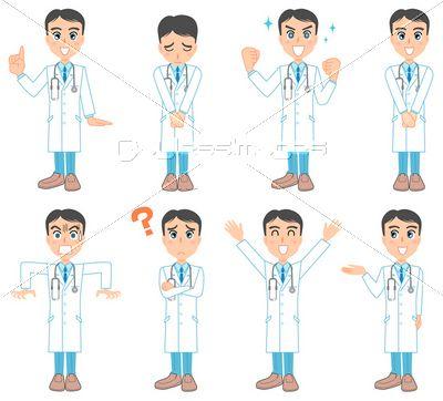 若い医者のポーズ集の写真 イラスト素材 Xf3025108896 ペイレスイメージズ 医療イラスト 写真イラスト イラスト