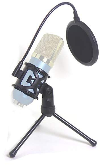 Desktop Microphone Tripod Suspension Stand With Shock Mount Anti Vibration Mic Holder And 4 Round Mask Shield Double Net Wi Microphone Microphones Wind Screen