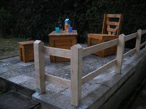 Salon de jardin vernis en planche de palette récup... | Bosch Les ...