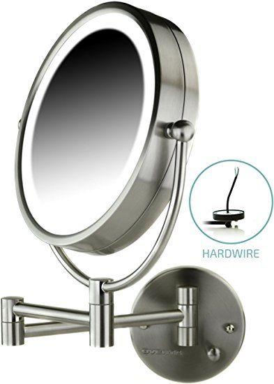 Ovente Wall Mount Makeup Mirror Direct Hard Wire 8 5 Inch 1x 7x