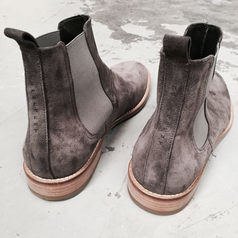 1864bc99d8225 Represent Clo - Wolf Grey Chelsea Boot, Italian calf suede, constructed  leather sole, heightened with a rounded toe box. Hand made in Italy.