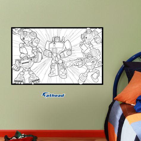 Dry Erase Transformers Coloring Sheet