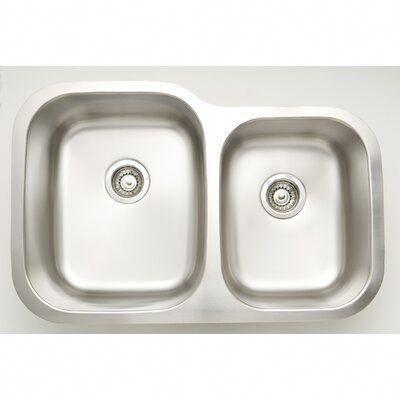 Avanities 32 L X 9 W Double Basin Undermount Kitchen Sink With Basket Strainer Avanities In 2020 Undermount Kitchen Sinks American Imaginations Kitchen Sink Sizes