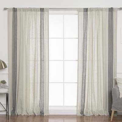 Bateman Striped Sheer Rod Pocket Curtain Panels Stripe Curtains