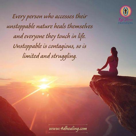 www.4dhealing.com #unstoppable #unlimited #awake #healing #purpose #energyhealing #energymedicine #quoteoftheday #chakras #spiritualjourney #yoga #soul