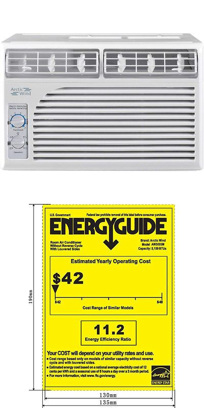 Central Air Conditioners 185108 Arctic Wind 5000 Btu Window Air Conditioner Mechanical Control Window Air Conditioner Air Conditioner Central Air Conditioners