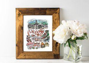 Asheville Nc Print Art Print Gifts Mountain Art Print City Prints
