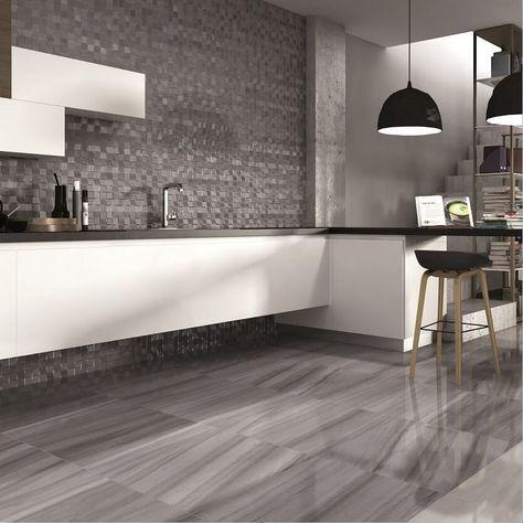 Century Marble Effect Floor Tiles In Modern Kitchen Modern Kitchen Flooring Modern Kitchen Tiles Modern Kitchen Tile Floor