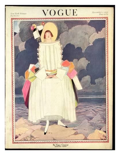 Fashion Illustration Premium Giclee Print: Vogue Cover - November 1922 by George Wolfe Plank : -