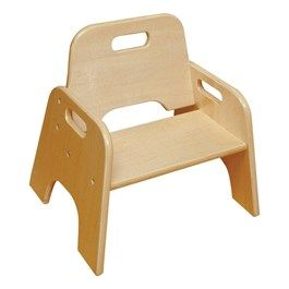 Wooden Stackable Toddler Chair 6 Seat Height Toddler Chair