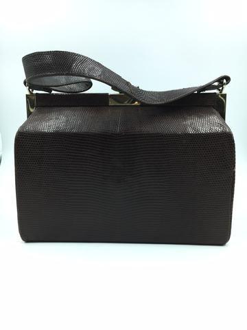 Rare! Vintage Deerskin Prada Cervo Nero Tote Bag  ee57fc809de4f
