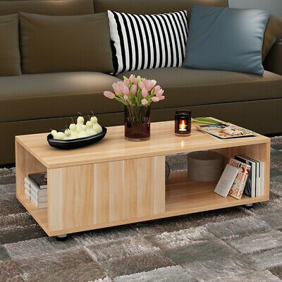 Details About Coffee Table Living Room Furniture Home Furniture Wood Sofa Side Table Basse Coffee Table Living Room Table Living Room Coffee Table