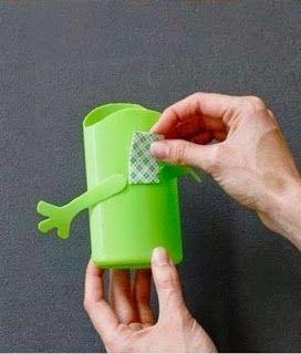Kerajinan Tangan Dari Botol Bekas Shampoo Tempat Pensil
