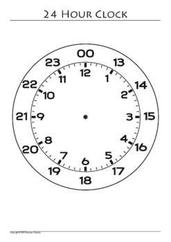 Awesome 24 Hour Clock Clipart Clock Template 24 Hour Clock