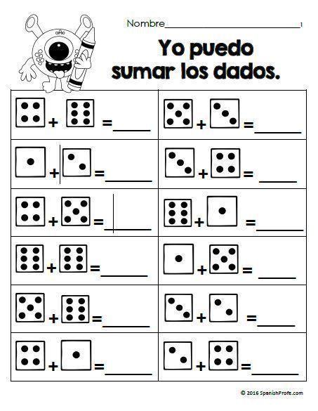 Hojas Y Centros De Matematicas Para Septiembre Primer Grado Spanish Math Spanish Profe Math Learning Math Bilingual Math